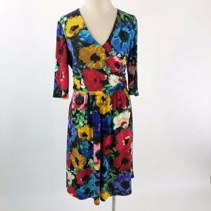 Ellen Tracy Women's Jersey Floral Printed Dress